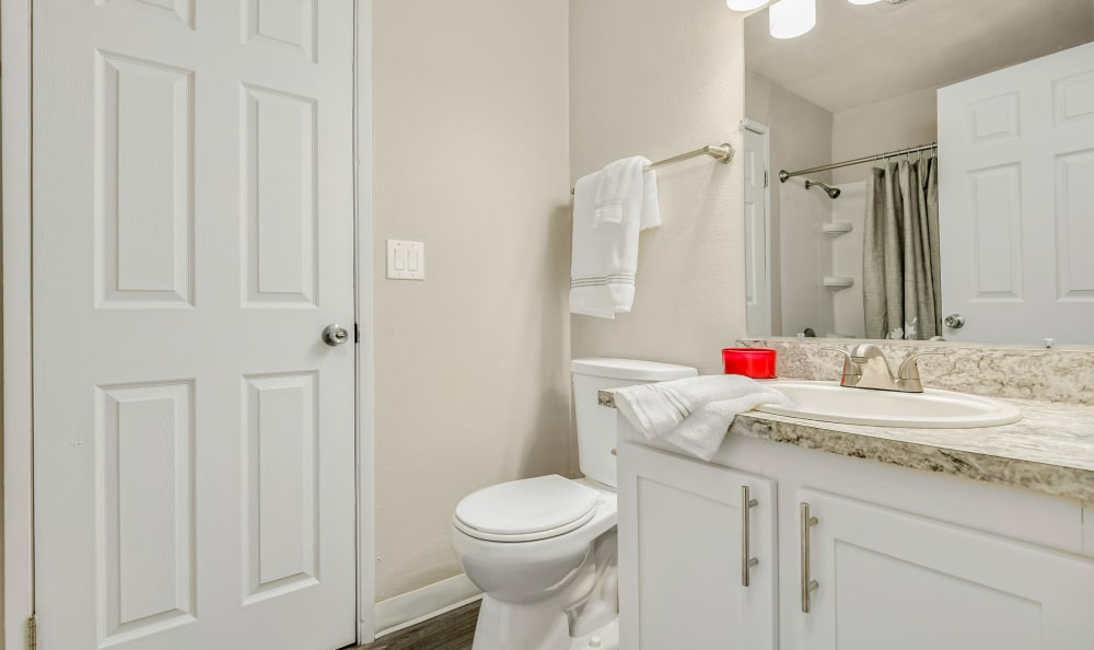 Beautiful Bathroom at The Boulevard at South Station Apartment Homes in Tukwila, Washington