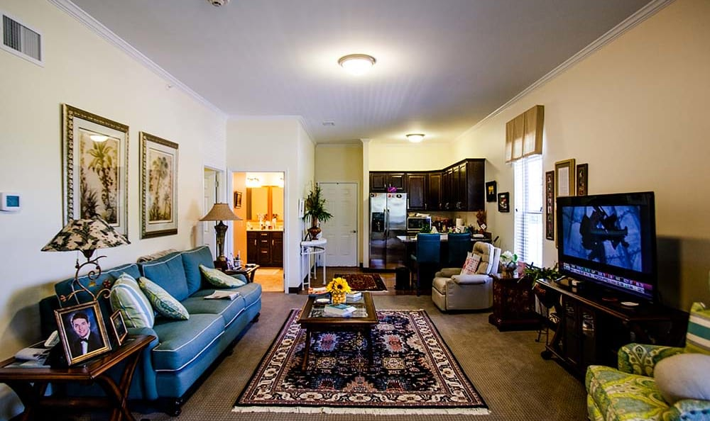 Resident living room area at The Lakes of Paducah in Paducah, Kentucky