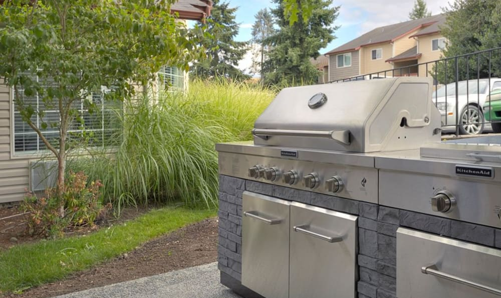BBQ Area at Discovery Landing Apartment Homes in Burien, Washington