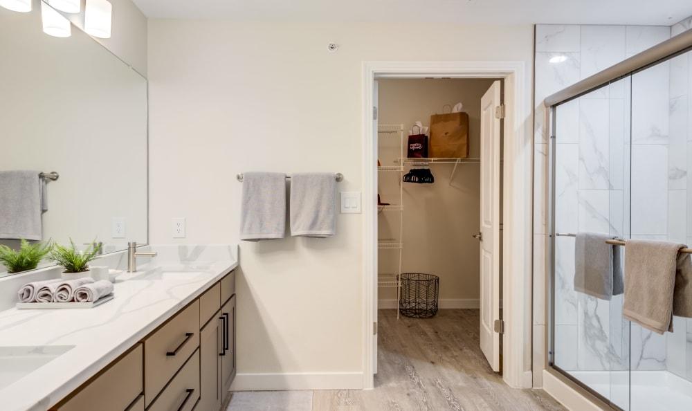 Urban modern bathroom at Riata Austin in Austin, Texas