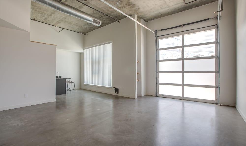 Unique ground floor live work studios at RiDE at RiNo in Denver, Colorado