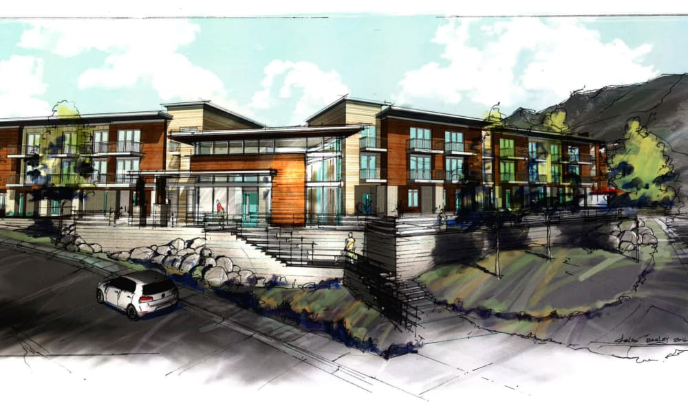 A rendering of Liberty Point Townhome Apartments in Draper, Utah