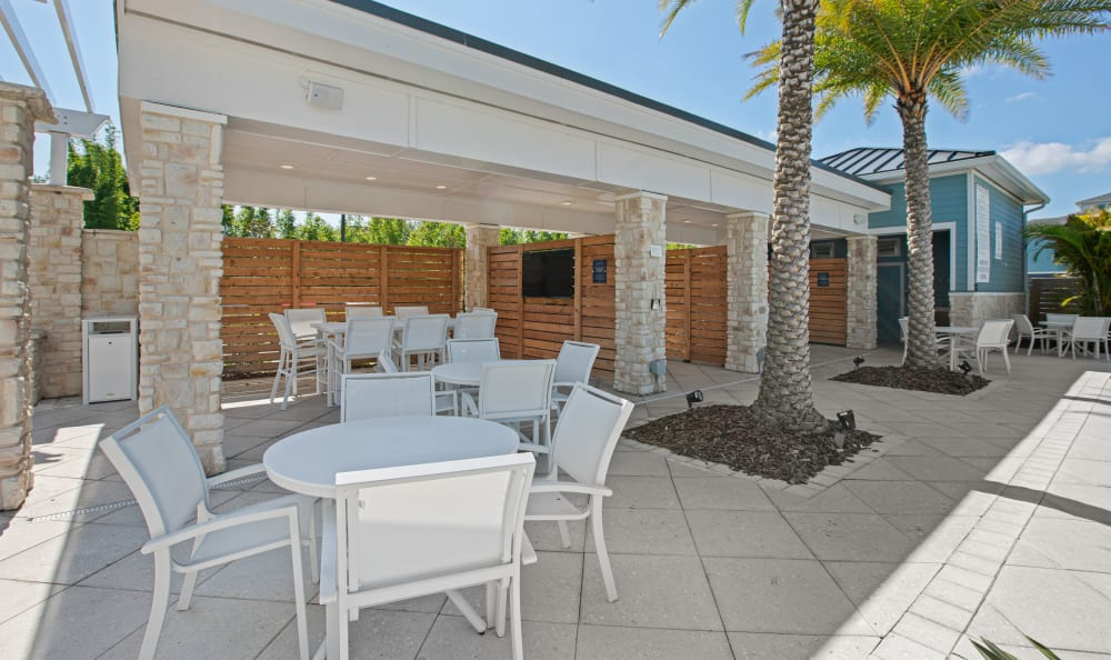 Vue at Belleair in Clearwater, Florida offers outdoor tables and chairs