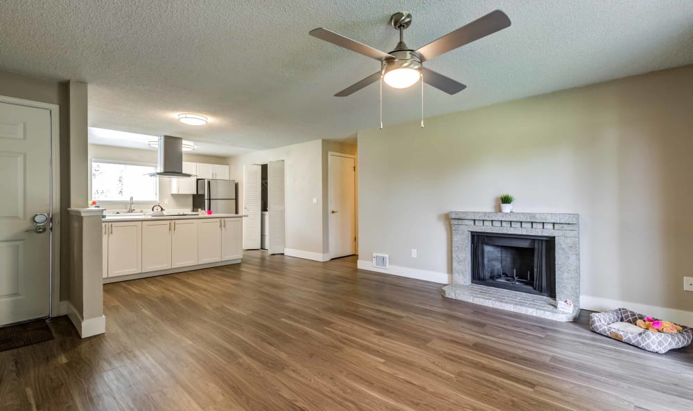 Living Room at Discovery Landing Apartment Homes in Burien, Washington
