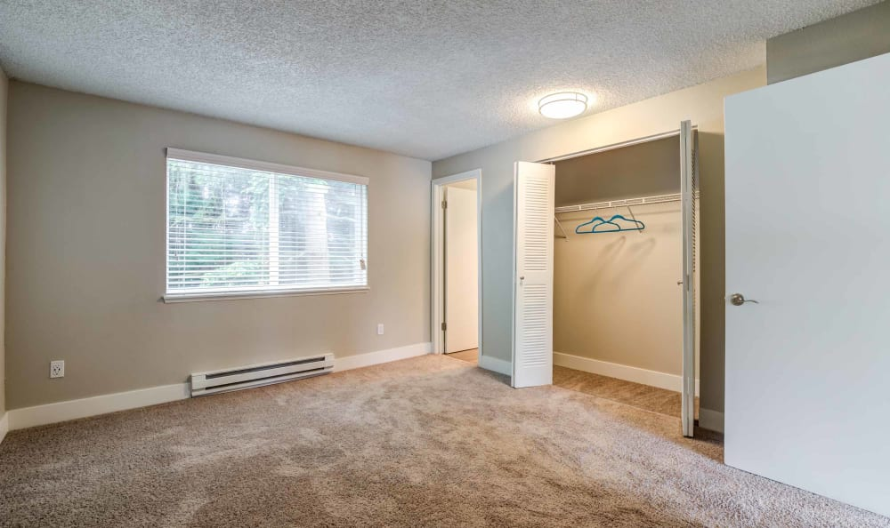 Spacious Bedroom at Discovery Landing Apartment Homes in Burien, Washington