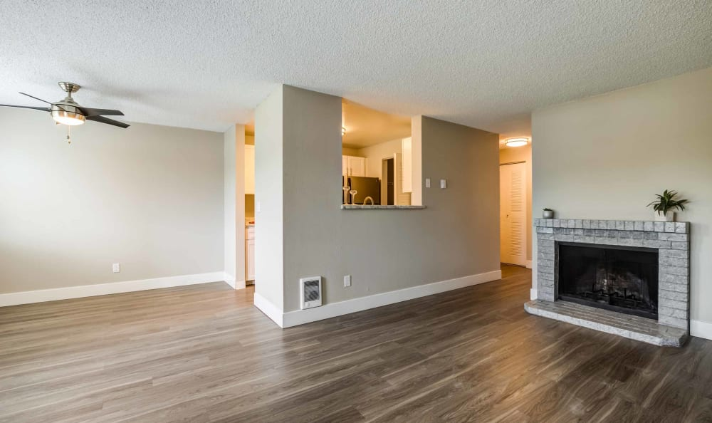 Living Room at Discovery Landing Apartment Homes in Burien, WA