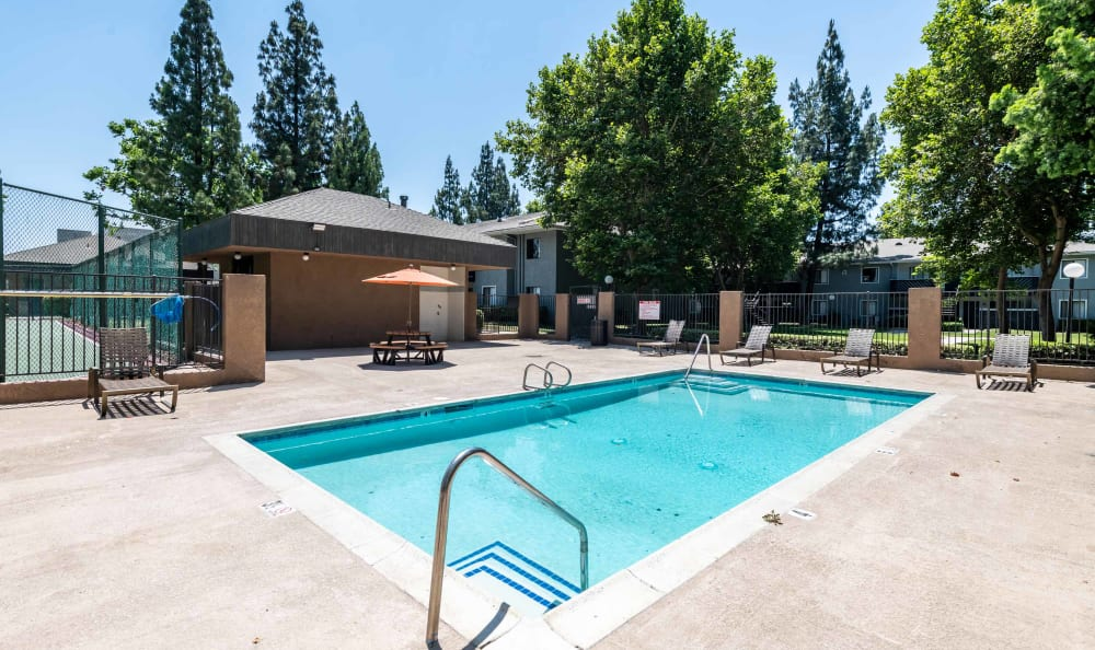 Outdoor pool at Creekside Village Apartment Homes