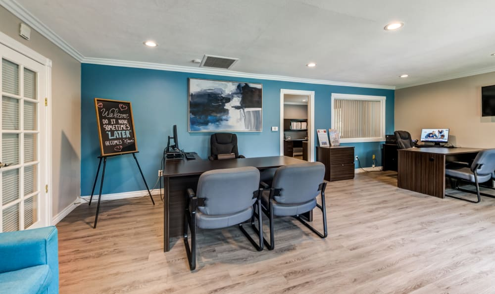 Clubhouse interior at Country Hills Apartment Homes in Corona, CA