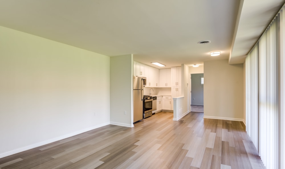 Hardwood flooring available at Capital Crossing in Suitland, Maryland