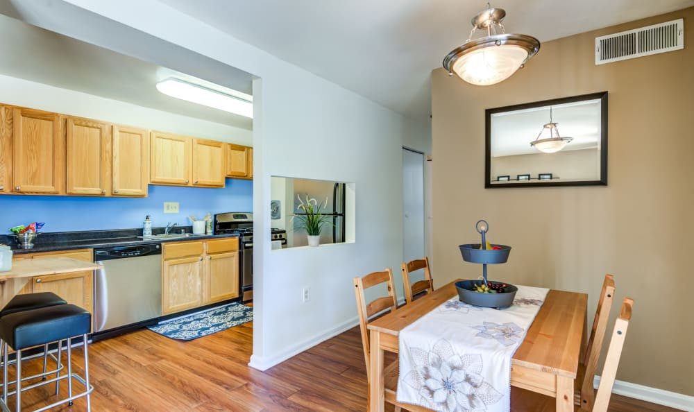 Dining room and Kitchen at Capital Crossing in Suitland, Maryland