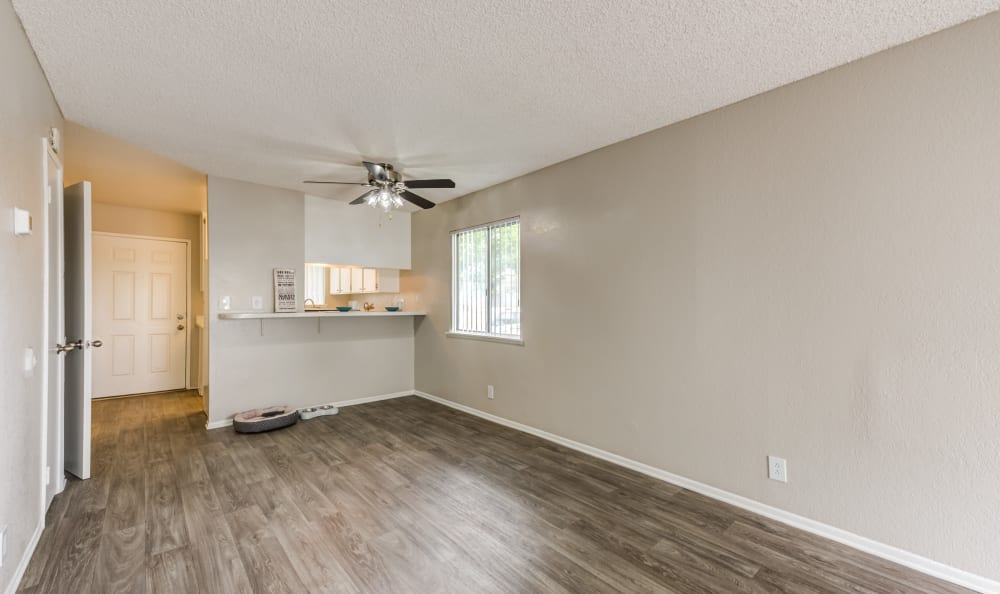 Living Room at Woodlands West Apartment Homes in Lancaster, California