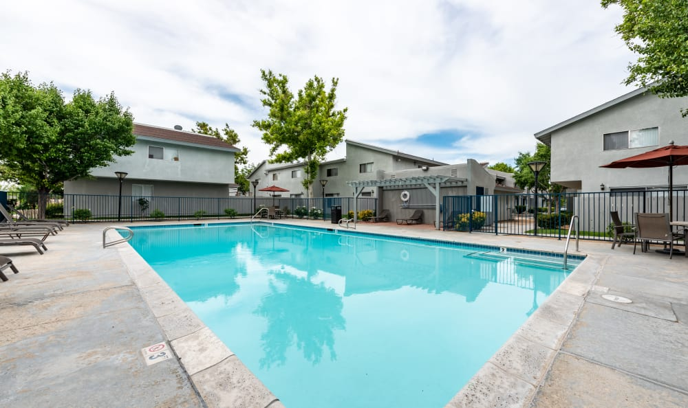Swimming Pool at Woodlands West Apartment Homes in Lancaster, California