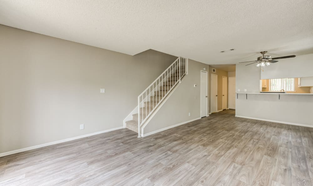 Woodlands West Apartment Homes offers a Living Room in Lancaster, California