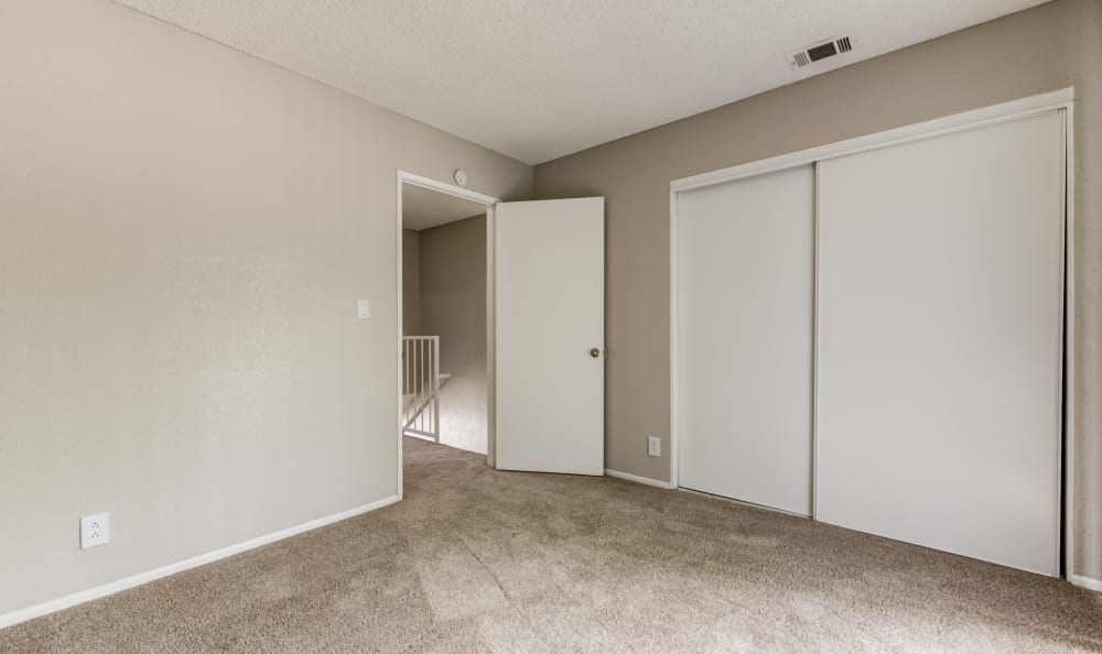 Woodlands West Apartment Homes offers a Bedroom in Lancaster, California
