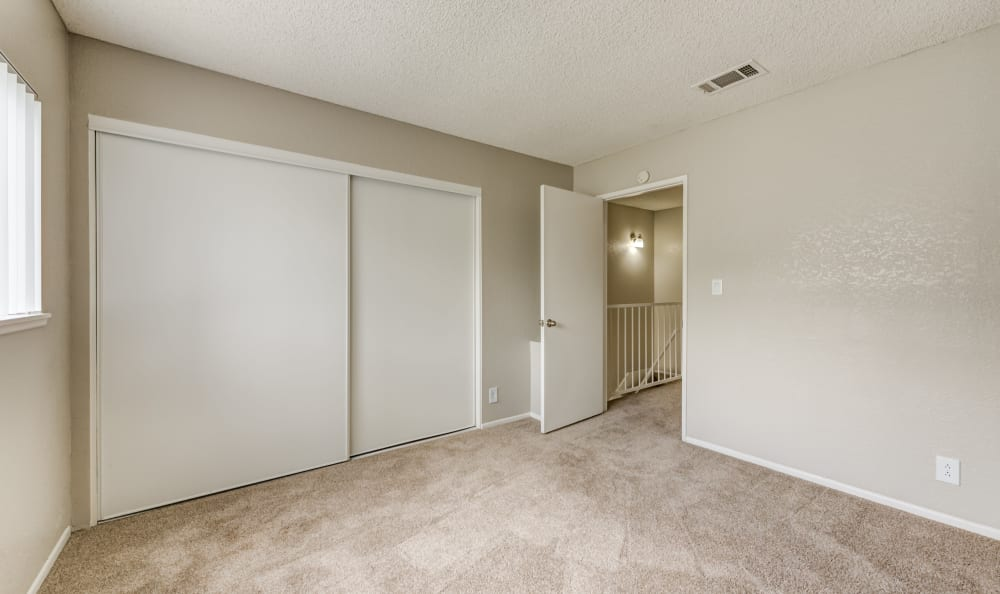 Bedroom at Woodlands West Apartment Homes in Lancaster, California