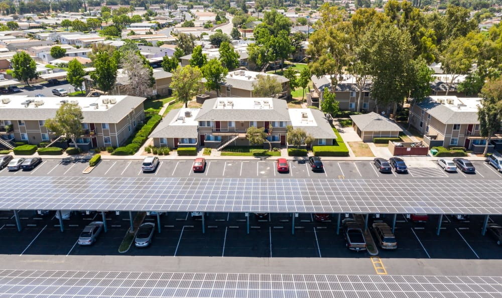 Aerial view of property at Country Hills Apartment Homes in Corona, CA