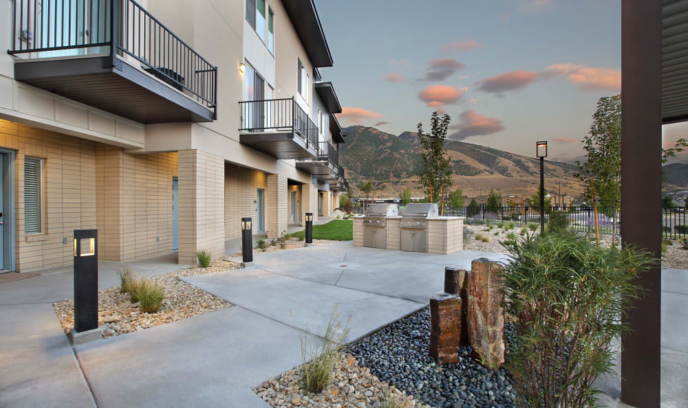 Patio at Liberty Point at Liberty Point Townhome Apartments in Draper, Utah