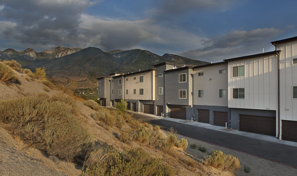 Garages at Liberty Point at Liberty Point Townhome Apartments in Draper, Utah