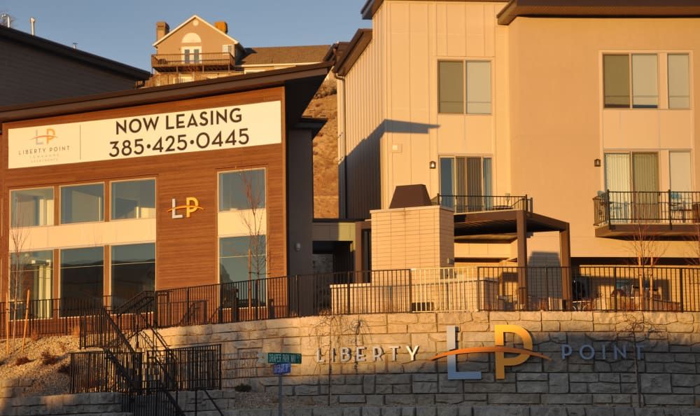 Entrance at Liberty Point at Liberty Point Townhome Apartments in Draper, Utah