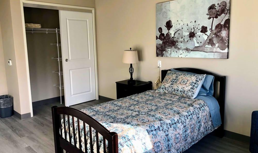 Bedroom at HOLI Senior Living in Hillsboro, OR