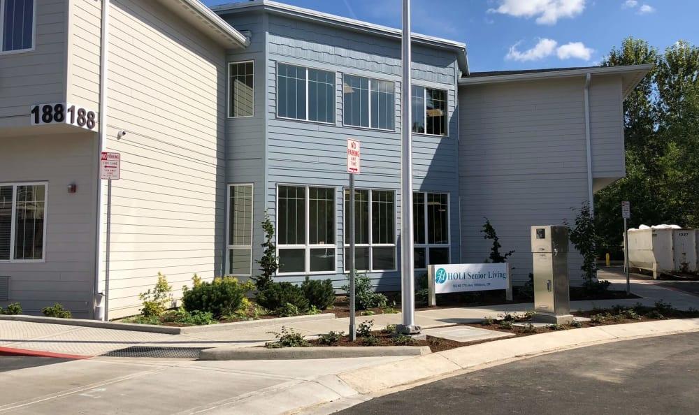 Entrance at HOLI Senior Living in Hillsboro, OR