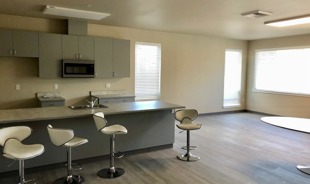 Interior of an apartment at HOLI Senior Living in Hillsboro, OR