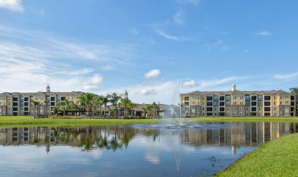 Water front view of Integra 360 Apartment Homes apartments in Winter Springs, Florida