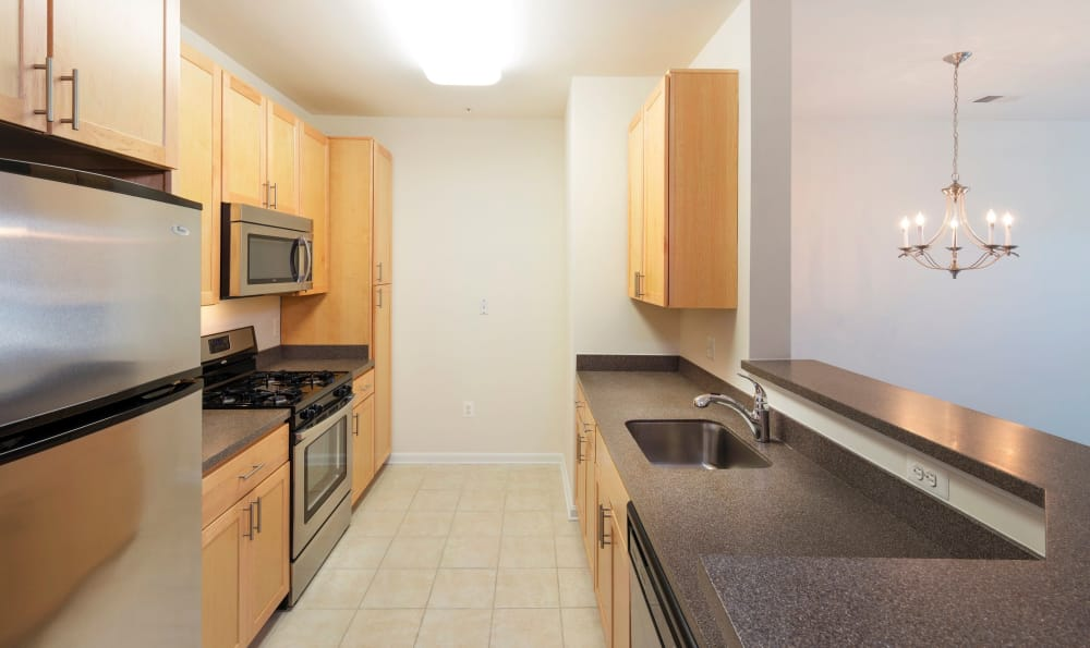 Our apartments in Sterling, Virginia showcase a spacious kitchen
