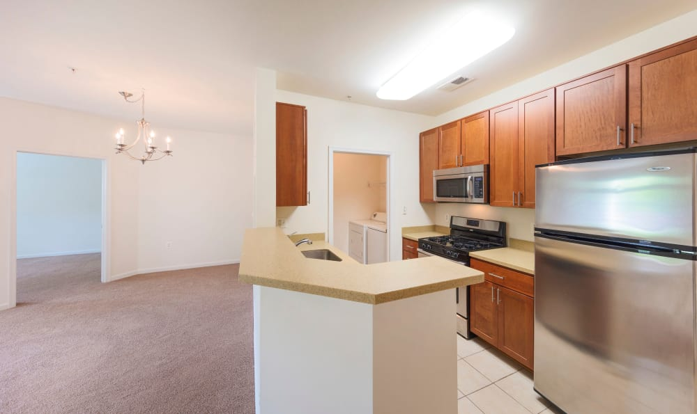 Spacious kitchen at apartments in Sterling, Virginia