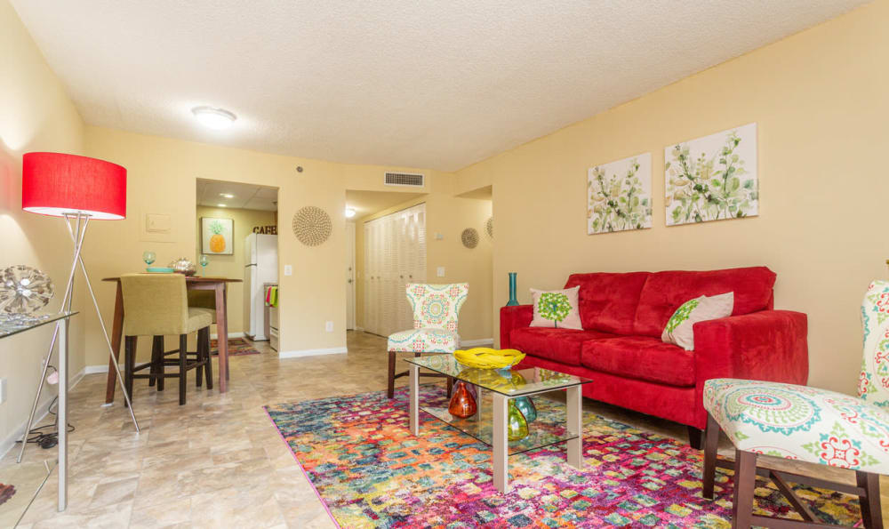 Living Room at Forest Place Apartments in Miami