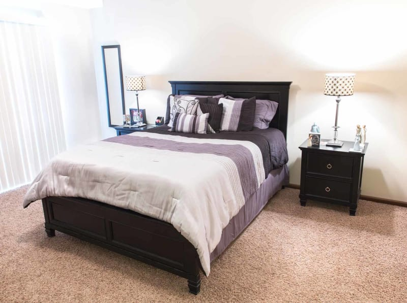 Bedroom at Providence Pointe in Johnston, Iowa