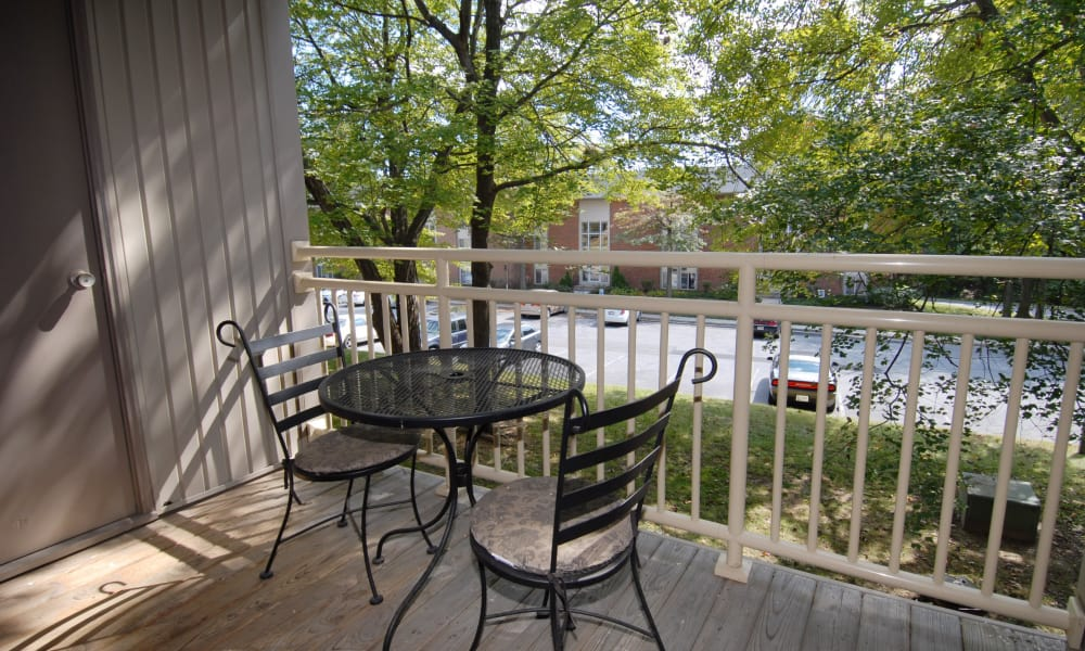 Parkville, Maryland apartments with a private balcony