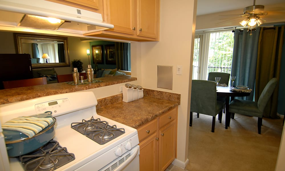 Modern kitchen at apartments in Fort Washington, Maryland