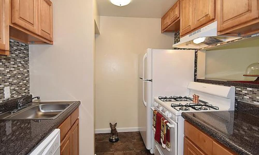 Harbor Place Apartment Homes offers a beautiful kitchen in Fort Washington, Maryland
