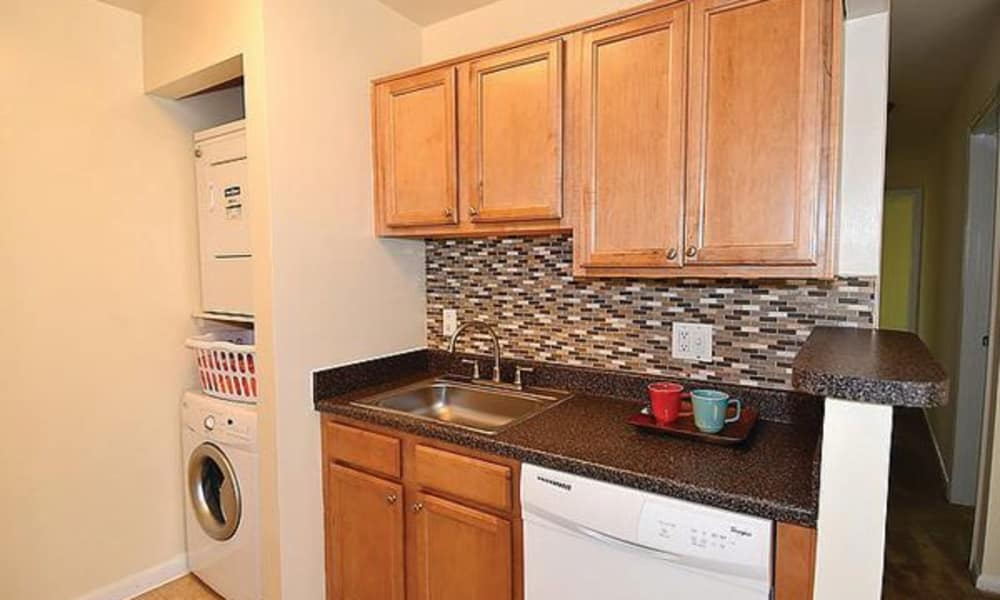 Kitchen at Harbor Place Apartment Homes in Fort Washington, Maryland