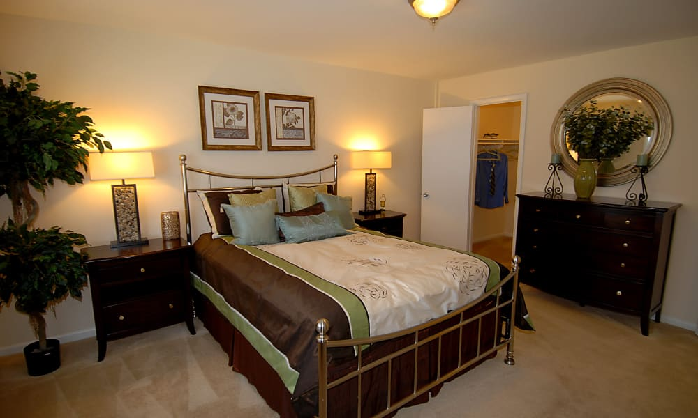 Spacious bedroom at apartments in Fort Washington, Maryland