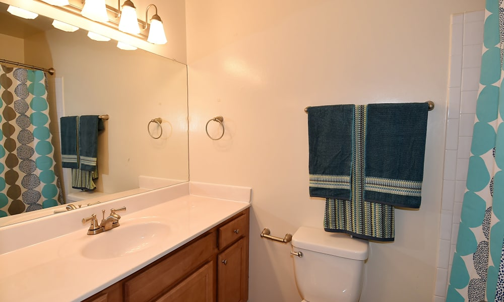 Bathroom at Harbor Place Apartment Homes in Fort Washington, Maryland