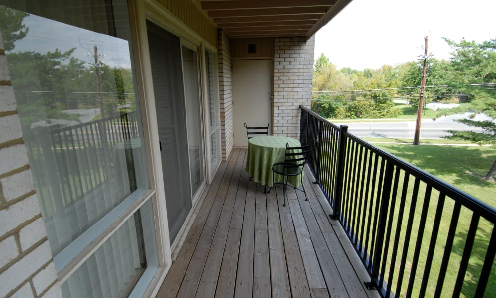 Harbor Place Apartment Homes in Fort Washington, Maryland offers apartments with a private balcony
