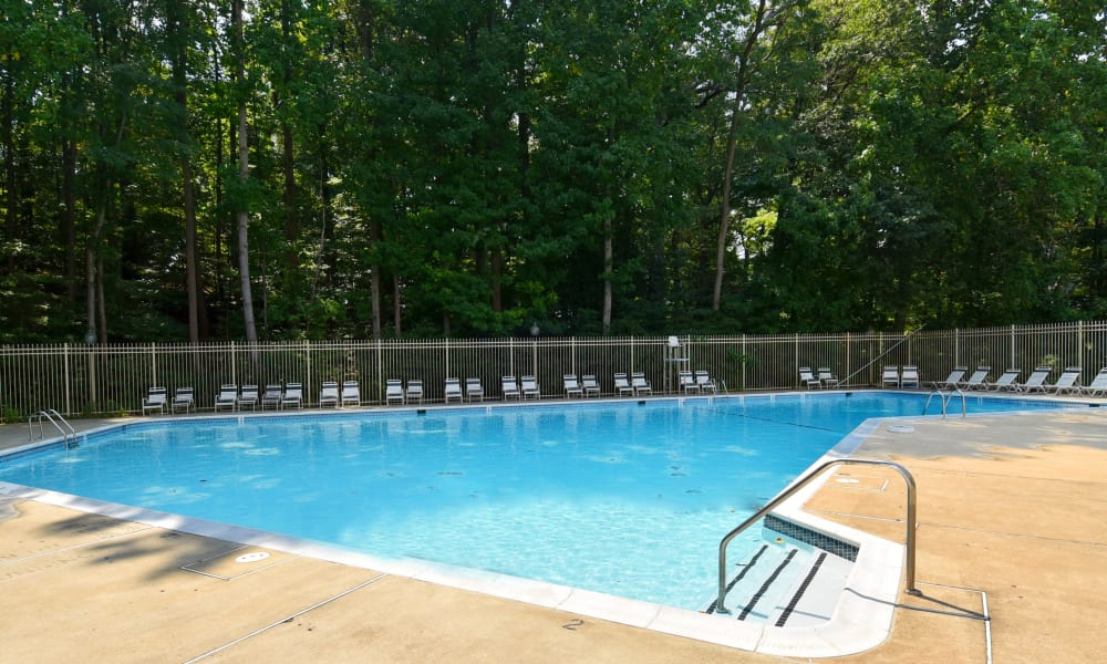 Swimming pool at apartments in Fort Washington, Maryland