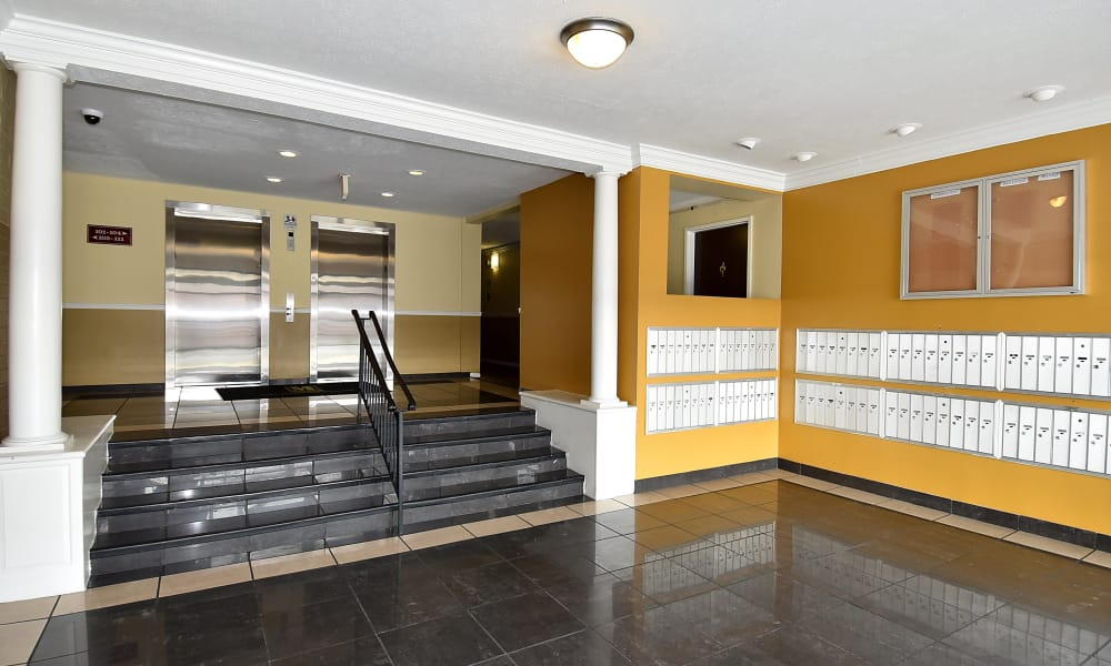 Elevators at Kings Park Plaza Apartment Homes in Hyattsville, Maryland