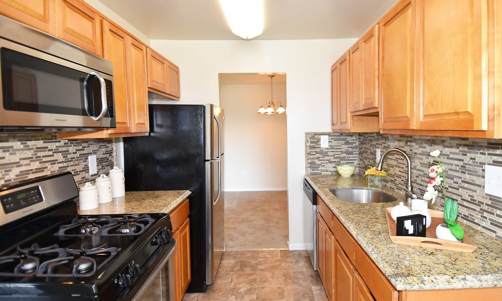 Beautiful kitchen at apartments in Silver Spring, Maryland