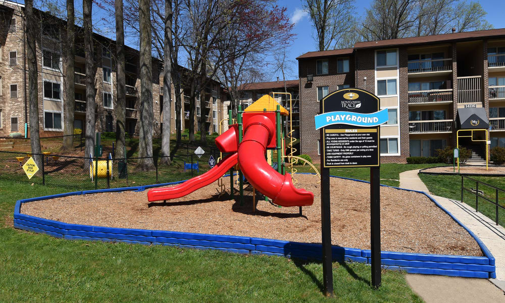Playground at Montgomery Trace Apartment Homes in Silver Spring, Maryland