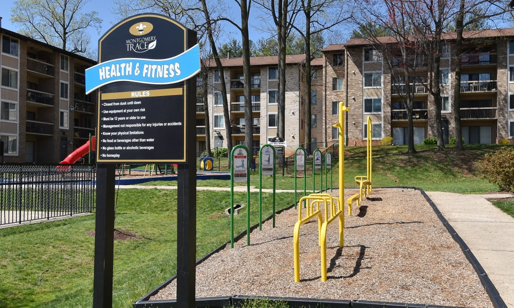 Exterior areas at Montgomery Trace Apartment Homes in Silver Spring, Maryland