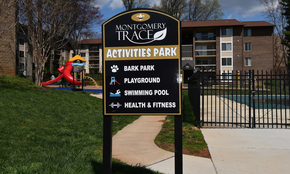 Activities park at Montgomery Trace Apartment Homes in Silver Spring, Maryland