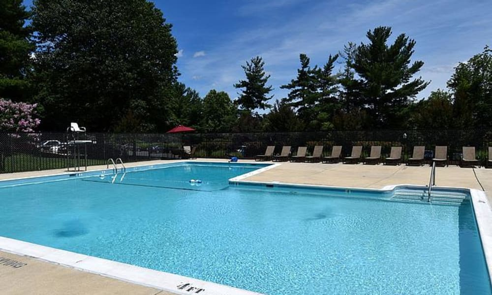 Swimming pool at apartments in Silver Spring, Maryland