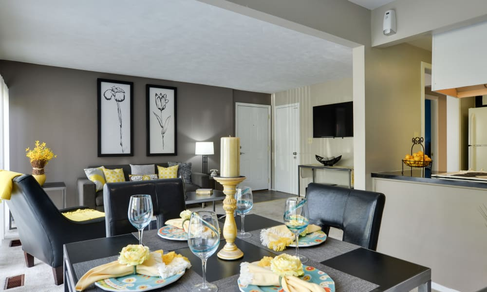 Beautiful dining room at apartments in Towson, Maryland