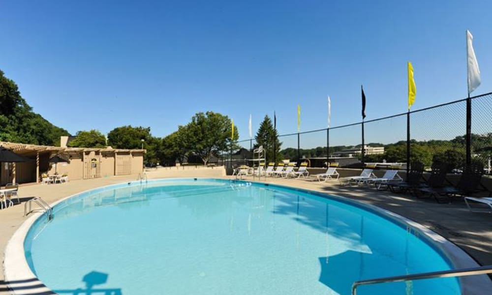 Enjoy apartments with a swimming pool at The Colony at Towson Apartments & Townhomes