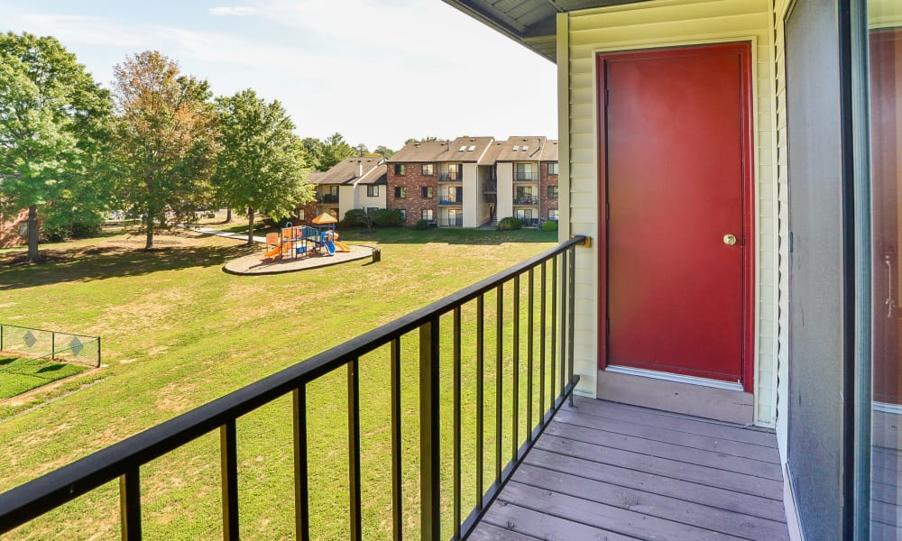Our unique apartments offer a private balcony at Cranbury Crossing Apartment Homes