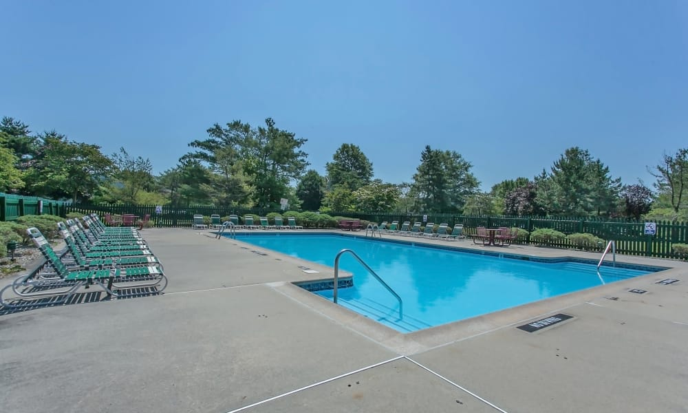 Swimming pool at apartments in East Brunswick, New Jersey