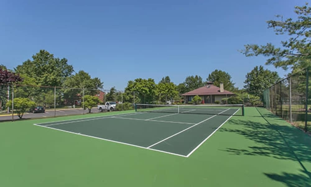 Tennis court at apartments in East Brunswick, New Jersey
